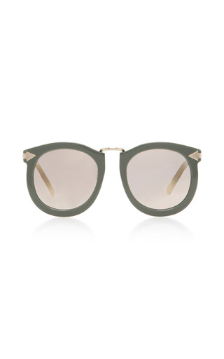 Medium karen walker neutral super lunar round eye acetate sunglasses