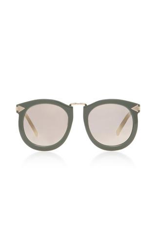 Medium karen walker neutral super lunar round eye acetate sunglasses