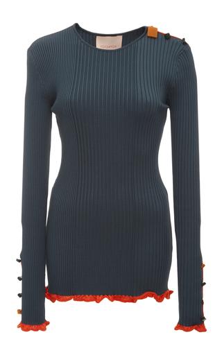Medium roksanda ilincic blue rhea knit top 2