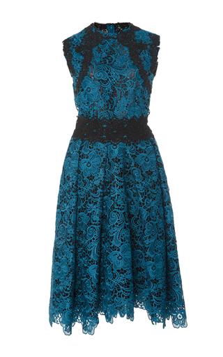 Medium costarellos green embroidered cut lace dress