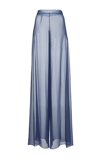 Medium christian siriano grey chiffon wide leg trouser