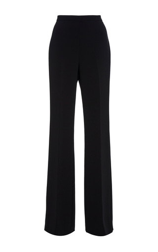 Medium christian siriano black crepe trousers