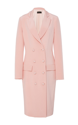Medium christian siriano pink crepe double breasted jacket