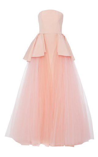 Medium christian siriano pink tulle over skirt gown