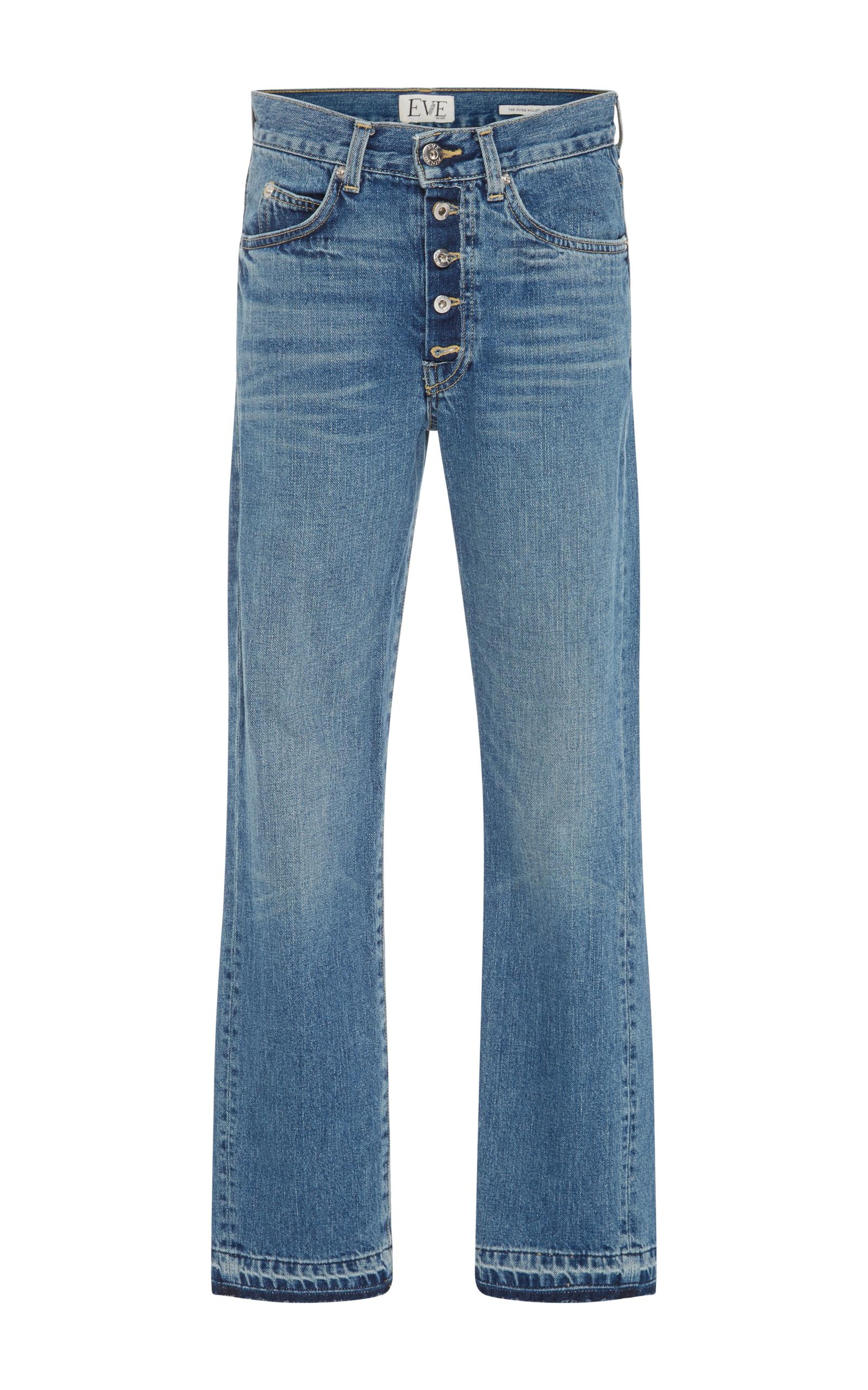 Silver Bullet Mid-Rise Straight-Leg Jeans Eve Denim vmeVdy