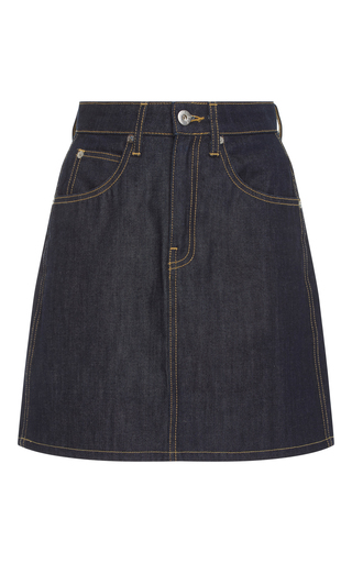 Medium eve denim blue scout denim mini skirt