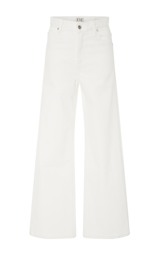Medium eve denim white charlotte high rise wide leg jeans 2