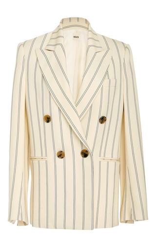 Medium khaite stripe isa striped double breasted blazer