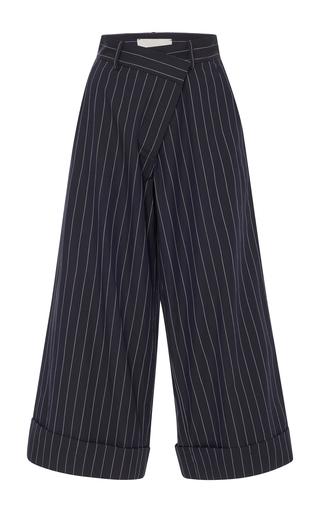 Medium monse blue pinstriped culottes