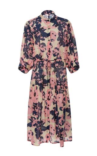 Medium apiece apart multi dunegrass printed silk and cotton blend shirtdress