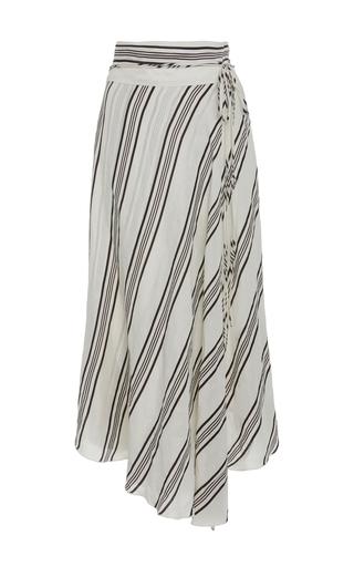 Medium apiece apart stripe striped linen and silk blend skirt