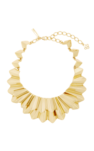 Medium oscar de la renta gold gold tone brass necklace