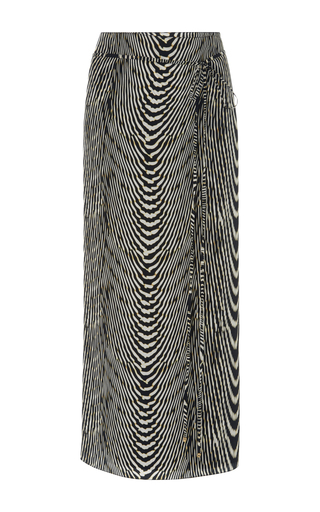 Medium lenny niemeyer animal zebra print silk chiffon sarong