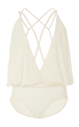 Medium lenny niemeyer white one piece swimsuit