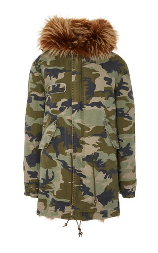 Medium mr mrs italy print camouflage midi parka
