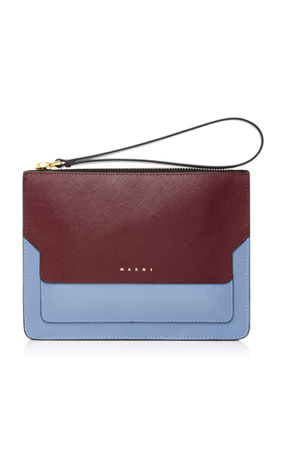 Medium marni multi color block leather clutch