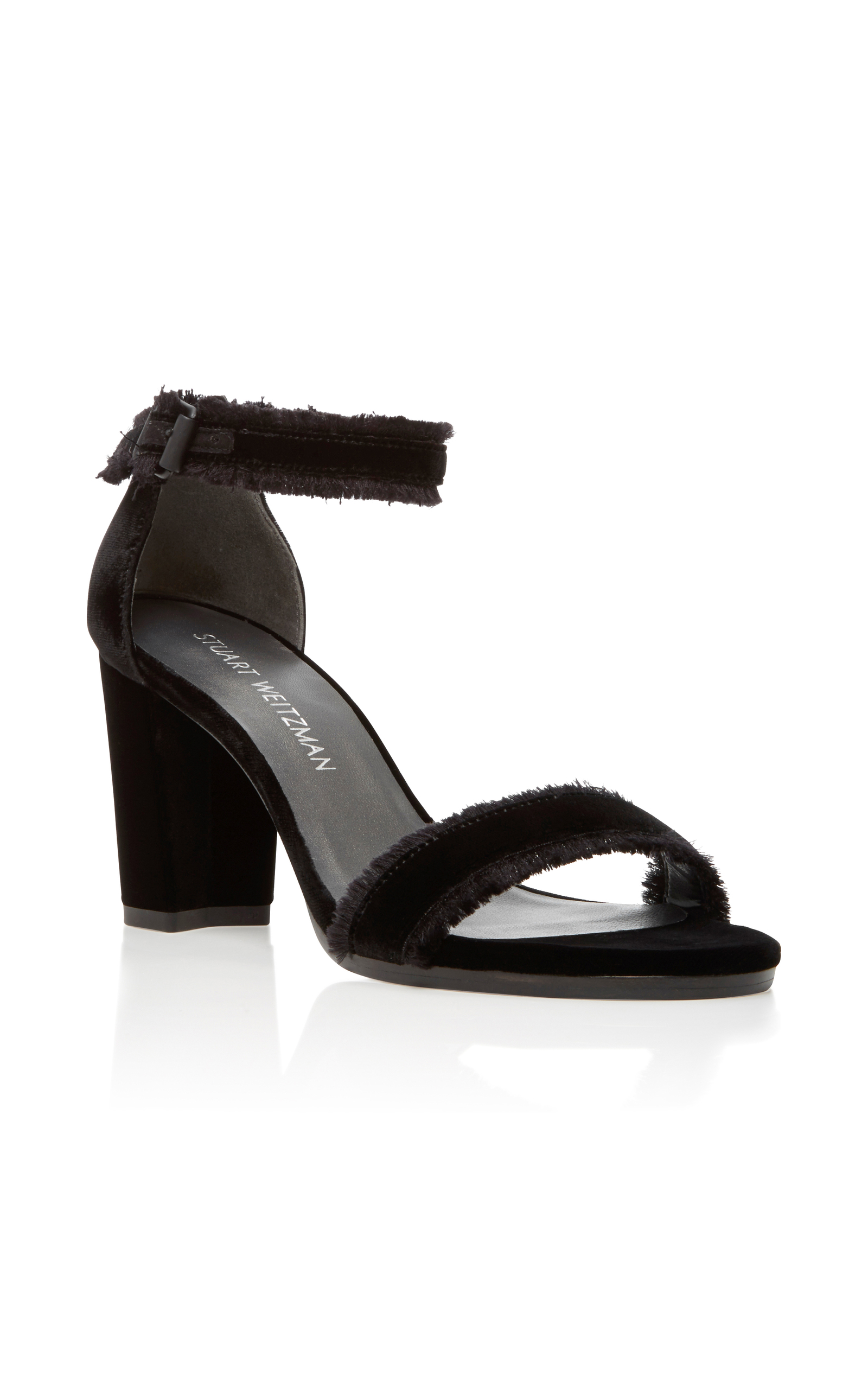 Black sandals ireland - Stuart Weitzmanfrayed Velvet Sandals