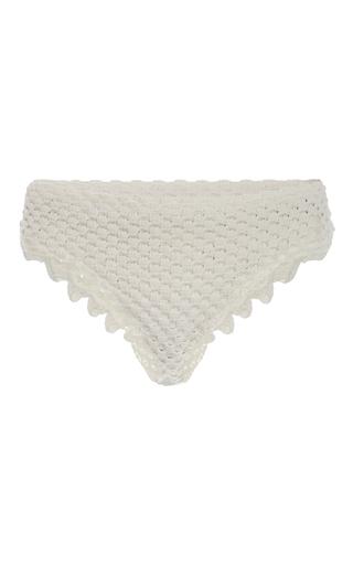 Medium helen rodel white crochet knit bikini briefs
