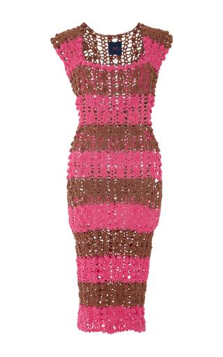 Medium helen rodel stripe striped crochet knit dress