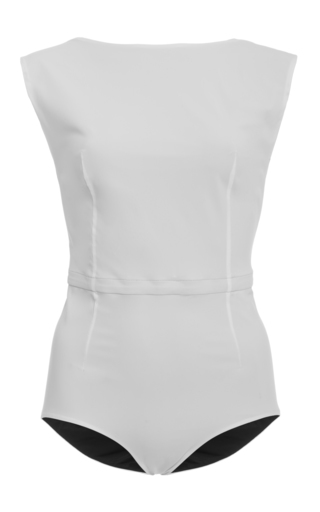 Medium jean yu white one piece swimsuit