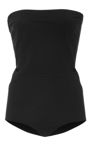 Medium jean yu black strapless swimsuit