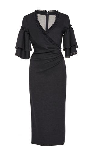 Ruffle-Trimmed Jersey Dress by Oscar de la Renta   Moda Operandi