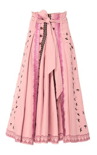 Medium temperley london pink poppy field skirt