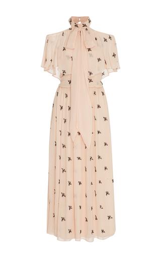 Medium temperley london neutral starling midi dress