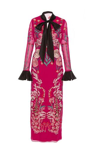 Medium temperley london burgundy woodland tie dress