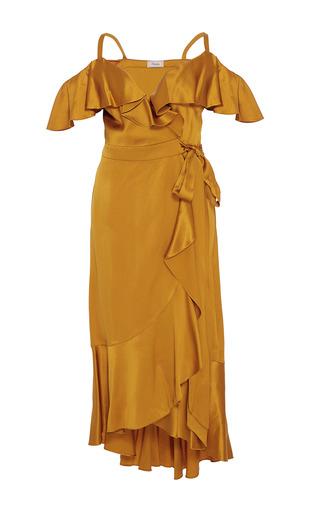 Medium temperley london gold carnation dress