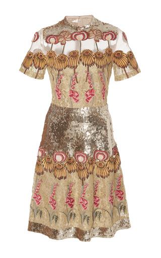 Medium temperley london metallic farewell mini dress