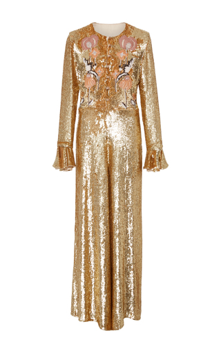 Medium temperley london gold wild horse jumpsuit