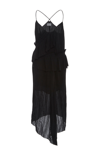 Medium maiyet black asymmetric slip dress