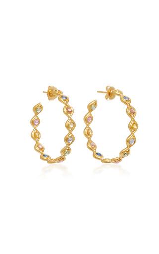 Medium jamie wolf multi 18k gold sapphire earrings