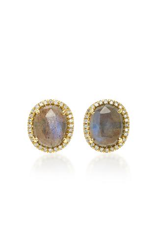 Medium nina runsdorf grey rose cut labradorite earrings