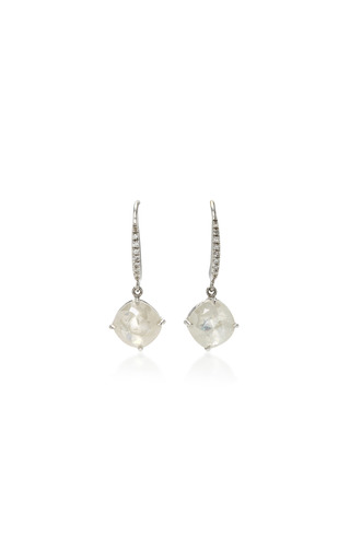 Medium nina runsdorf grey icy diamond earrings