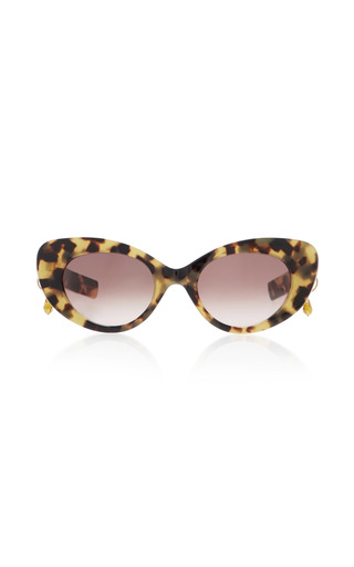 Medium pared eyewear brown poms pared tortoiseshell cat eye sunglasses