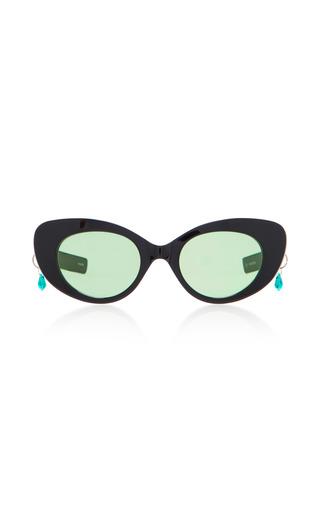 Medium pared eyewear black poms pared acetate cat eye sunglasses 2