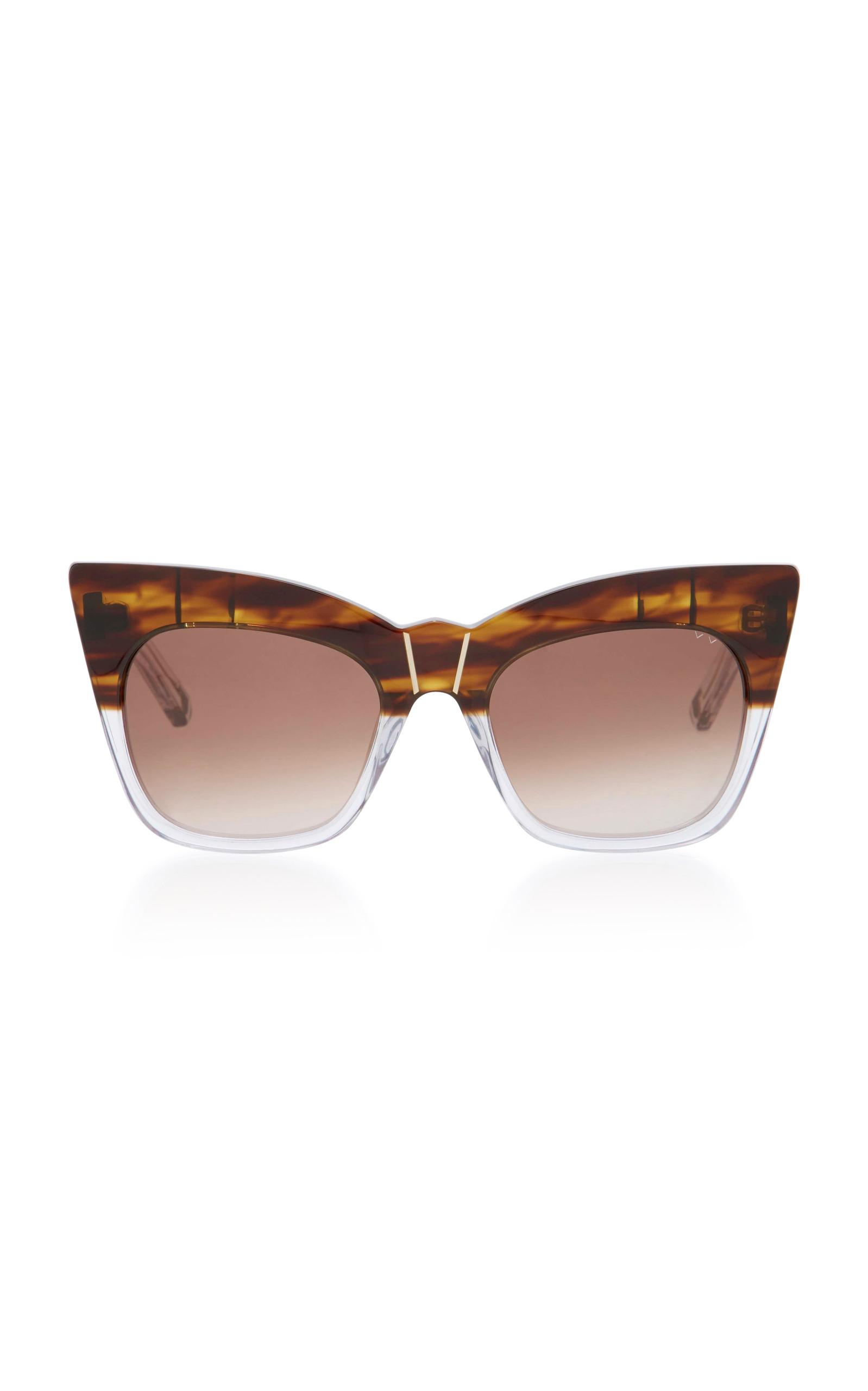 PARED EYEWEAR Kohl & Kaftans Two-Tone Cat-Eye Sunglasses in Brown