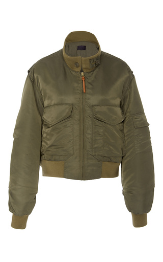 Medium nili lotan green mcguire bomber jacket
