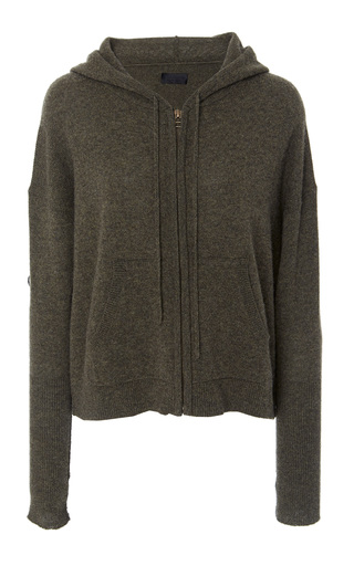 Medium nili lotan green jordan hoodie cardigan