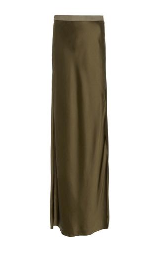 Medium nili lotan green maya silk maxi skirt