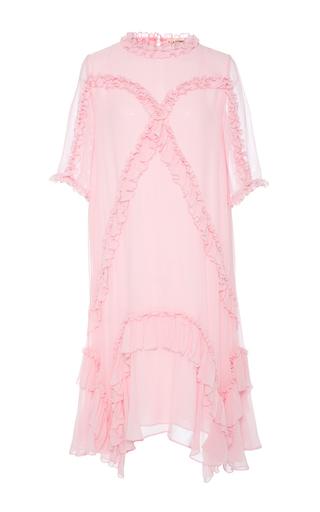 Medium ulla johnson pink ruffled pegeen dress
