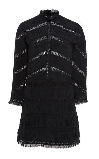 Medium ulla johnson black kitty pleated mini dress