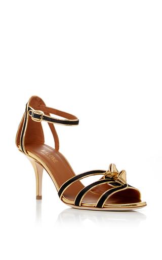 Medium malone souliers black eunice sandal 70mm
