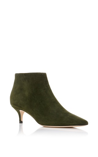 Medium aerin green pointed ankle boot