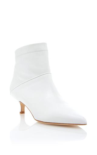 Medium tibi white jean bootie