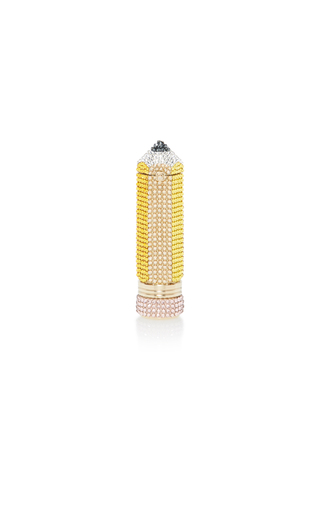 Medium judith leiber yellow crystal pencil pillbox