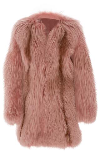 Medium j mendel pink oversized fox fur coat