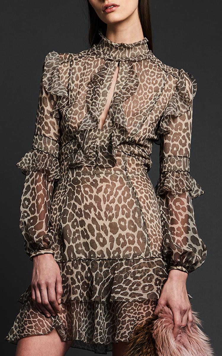 Leopard Print Ruffle Dress | Topshop